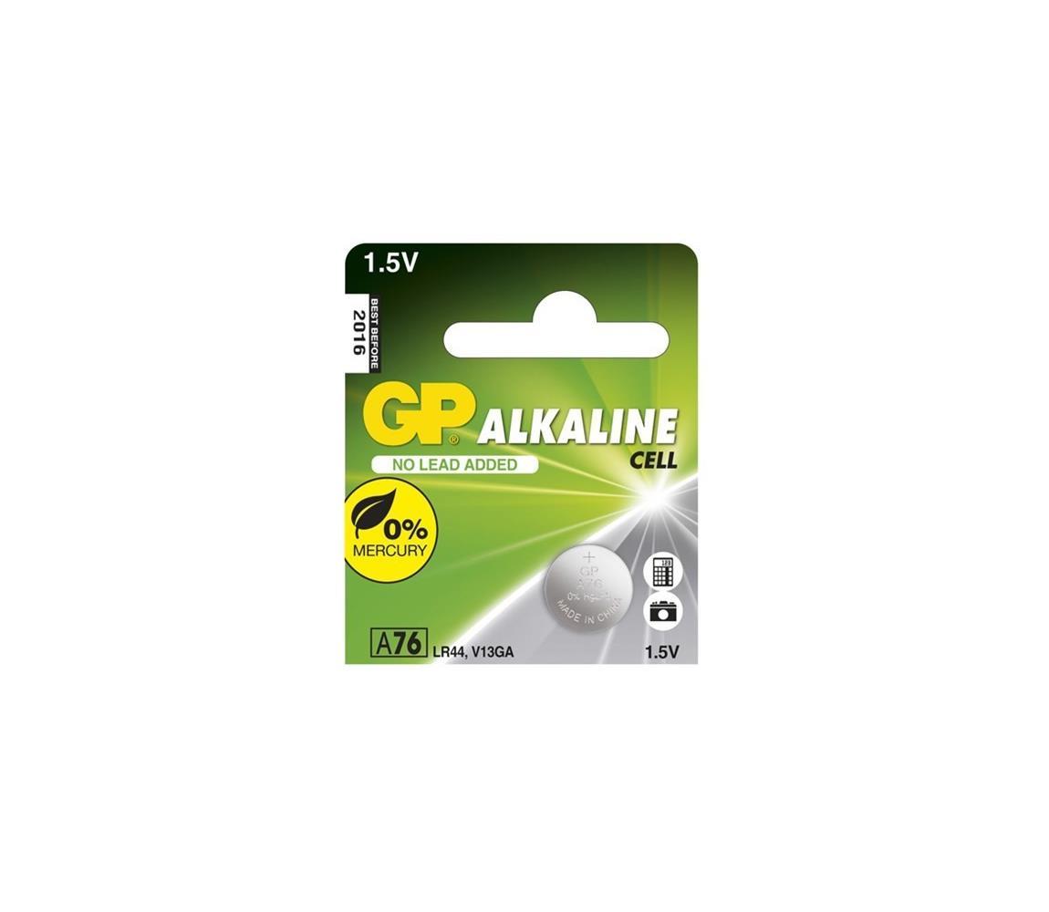 EMOS 1 ks Alkalická baterie knoflíková LR44 GP ALKALINE 1,5V