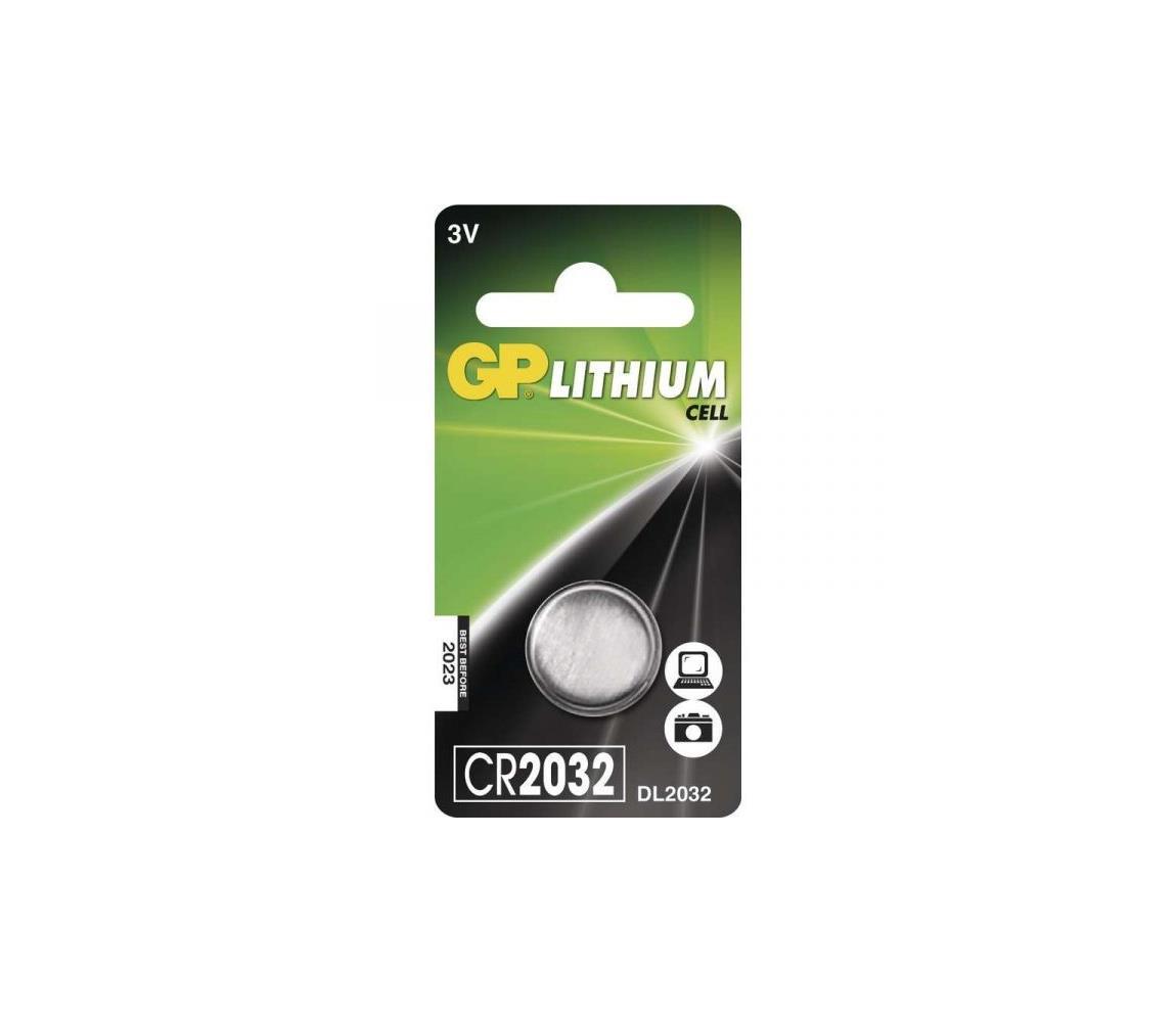 EMOS 1 ks Lithiová baterie knoflíková CR2032 GP 3V/220mAh EMS306