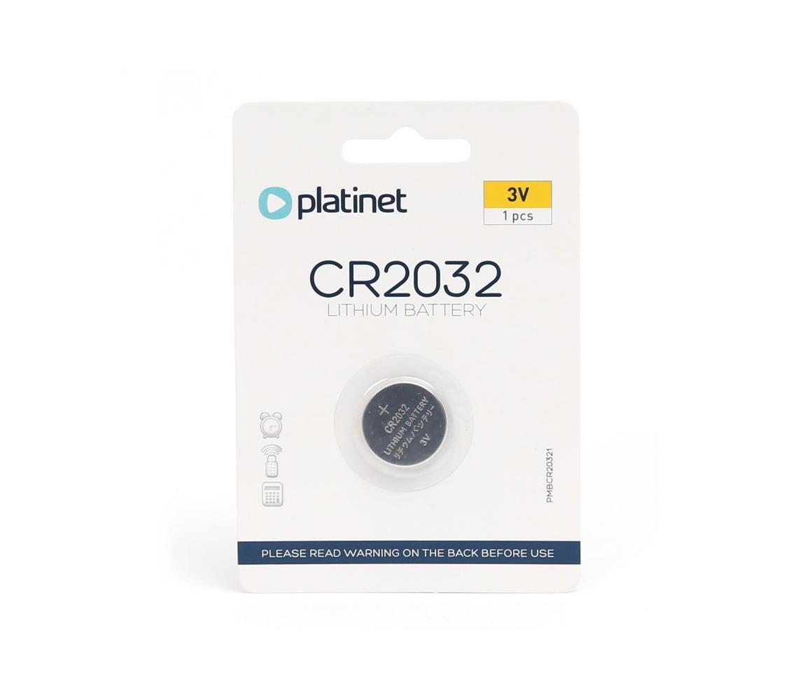 Platinet 1 ks Lithiová knoflíková baterie CR2032 BLISTER 3V PL0172