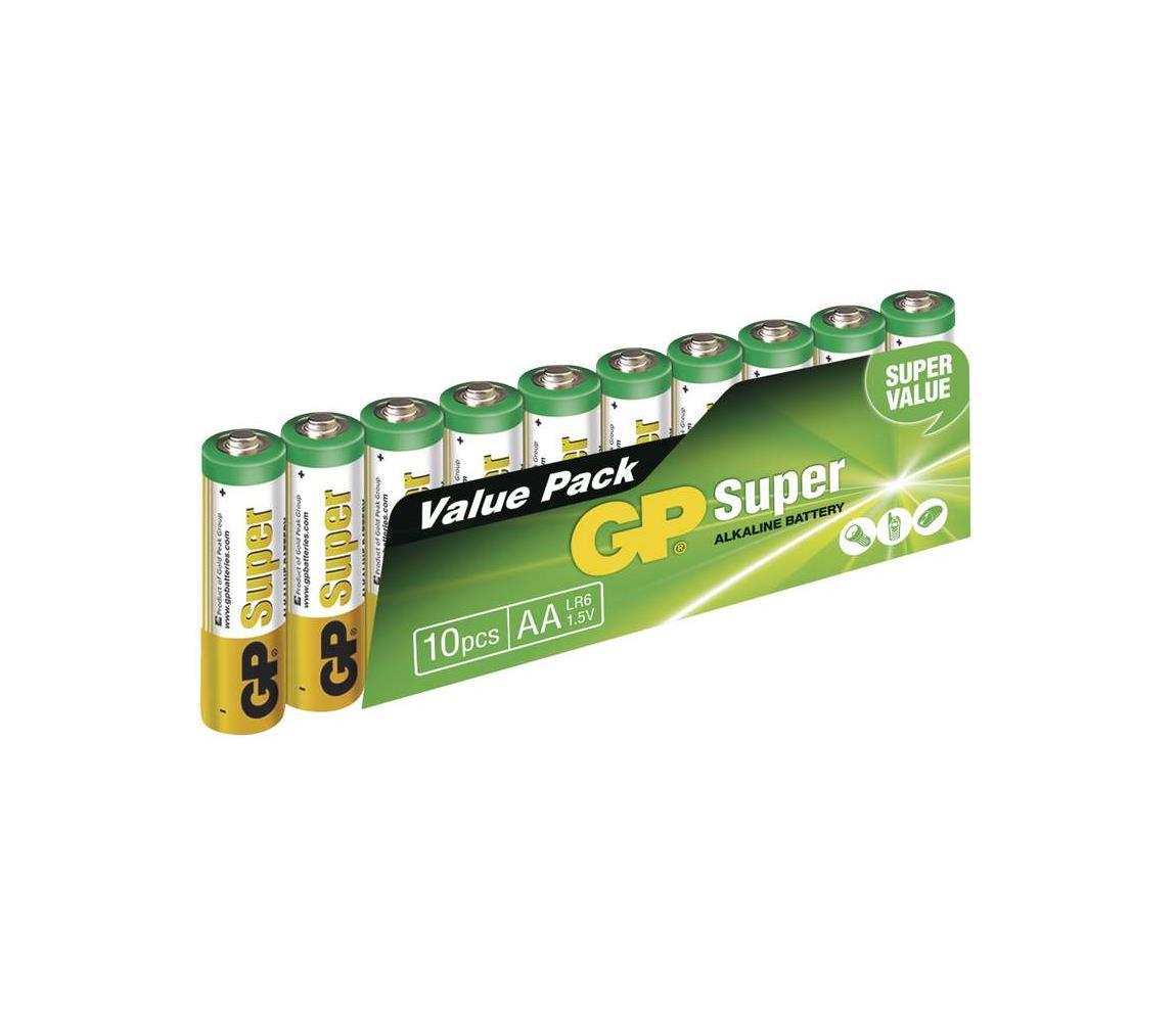 EMOS 10 ks Alkalická baterie AA GP SUPER 1,5V