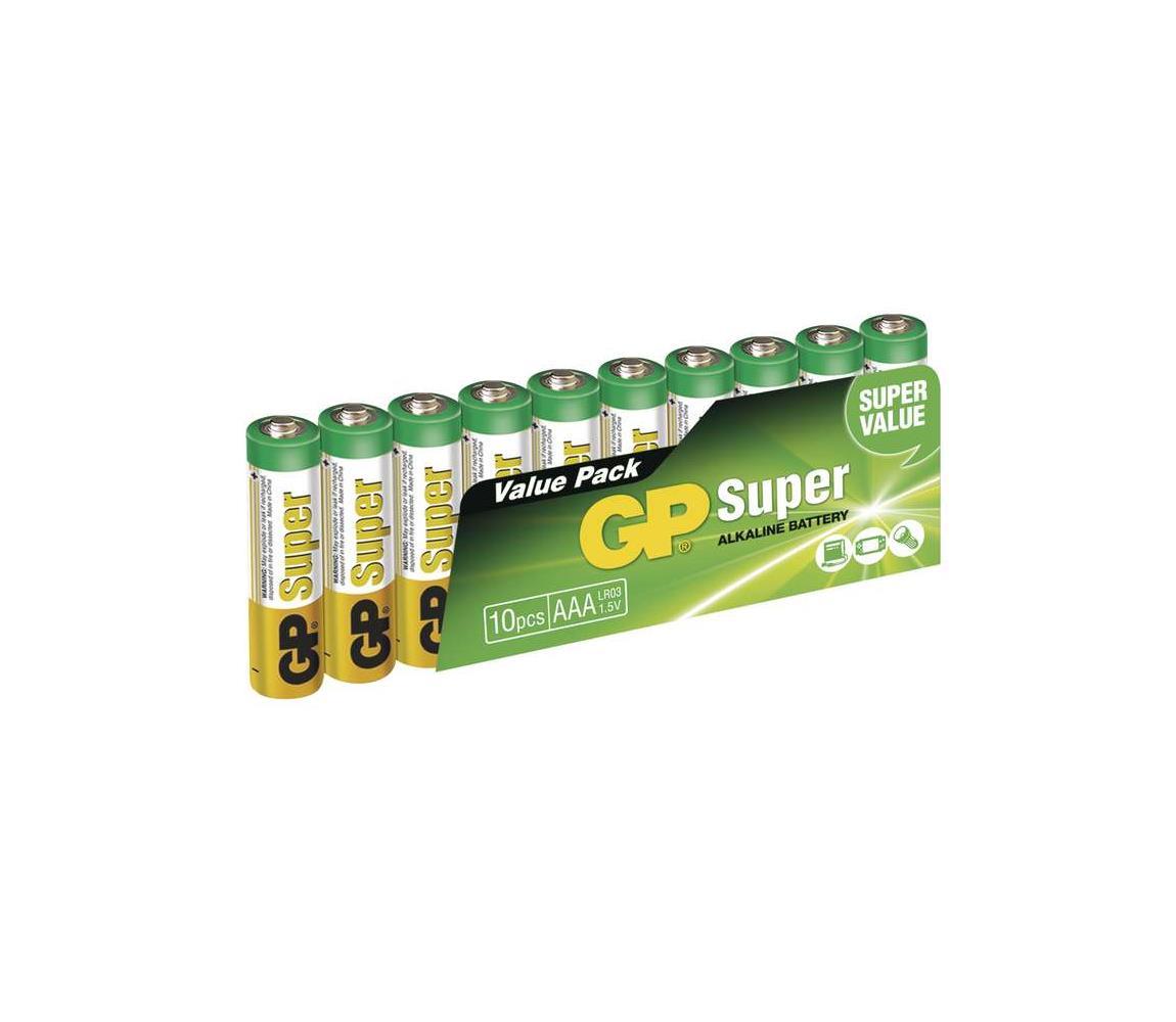 EMOS 10 ks Alkalická baterie AAA GP SUPER 1,5V