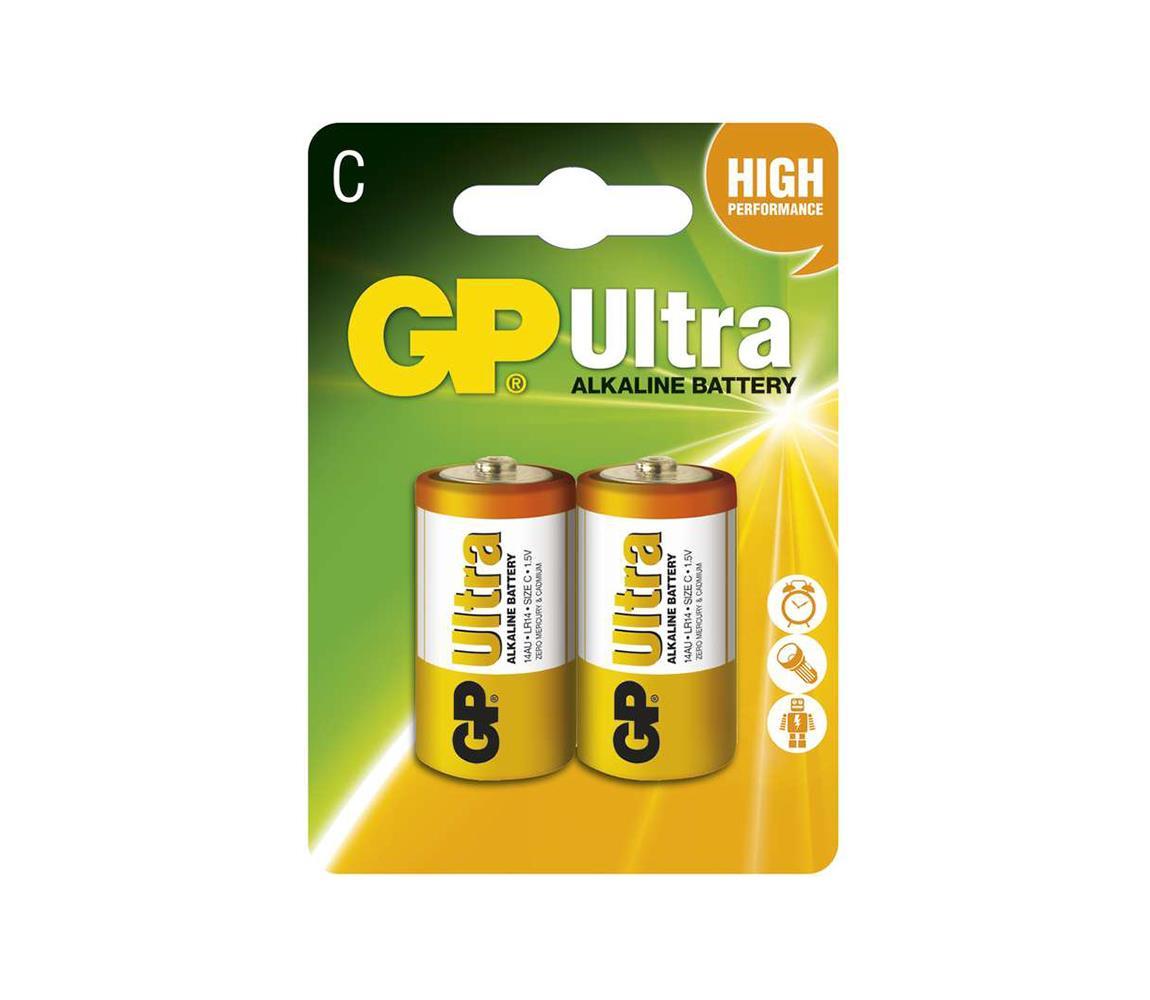EMOS 2 ks Alkalická baterie C GP ULTRA 1,5V