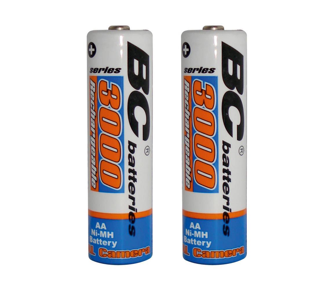Baterie Centrum 2 ks Nabíjecí baterie NiMH AA 3000 mAh 1,2V BC0021