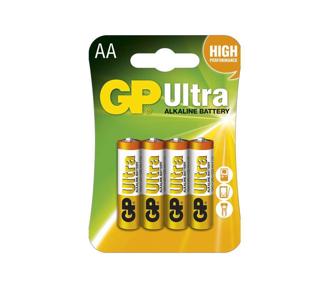 EMOS 4 ks Alkalická baterie AA GP ULTRA 1,5V