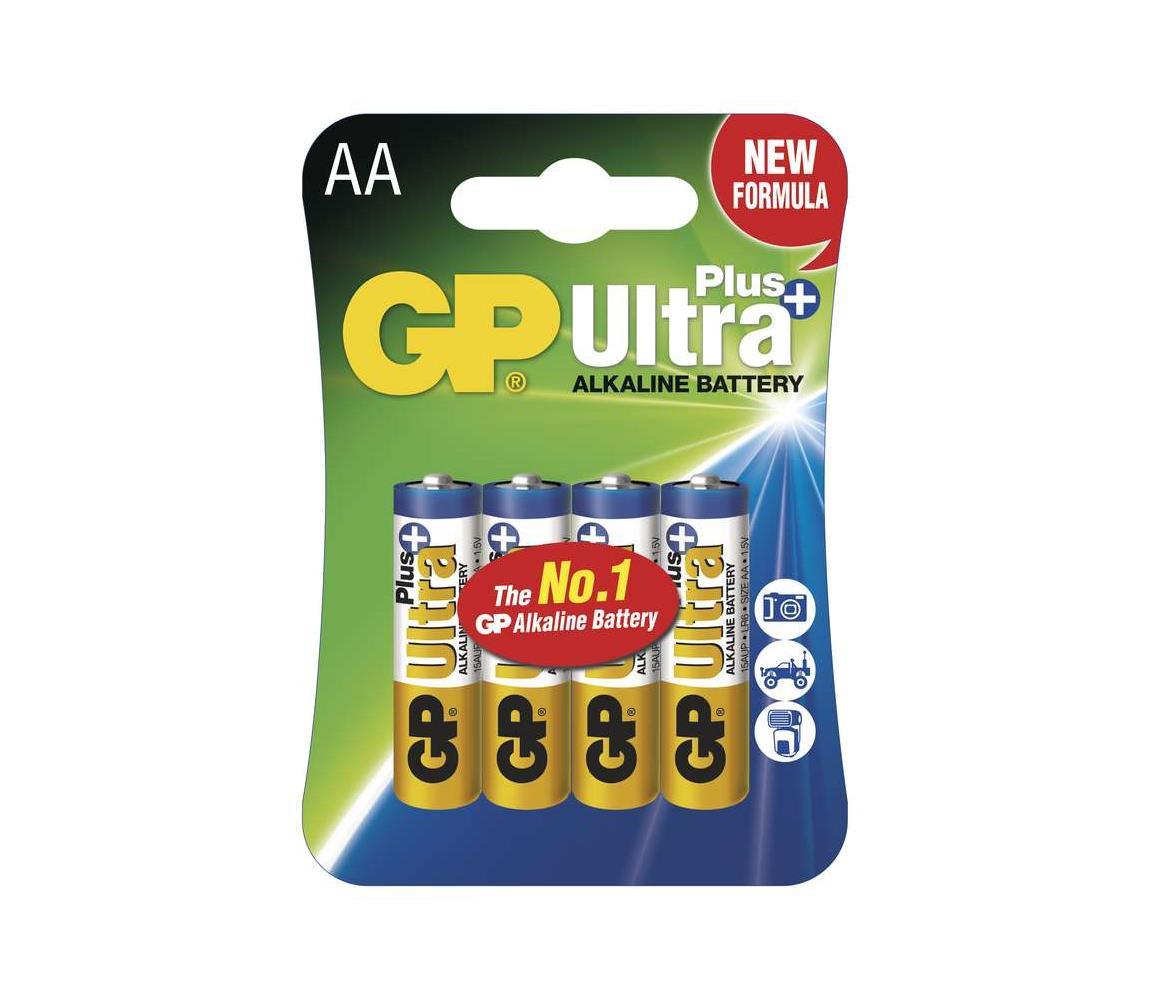 EMOS 4 ks Alkalická baterie AA GP ULTRA PLUS 1,5V