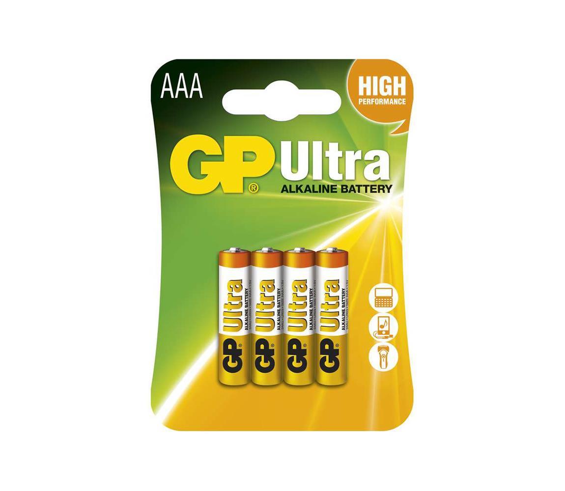 EMOS 4 ks Alkalická baterie AAA GP ULTRA 1,5V