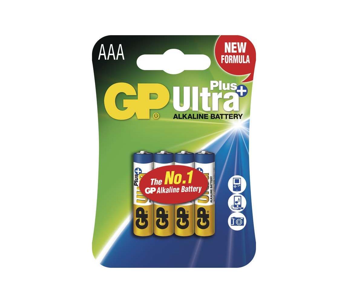 EMOS 4 ks Alkalická baterie AAA GP ULTRA PLUS 1,5V
