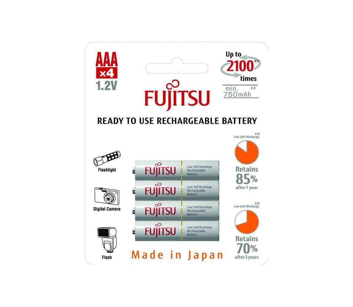 Solight 4 ks Nabíjecí baterie AAA NiMH/750mAh/1,2V SL0367