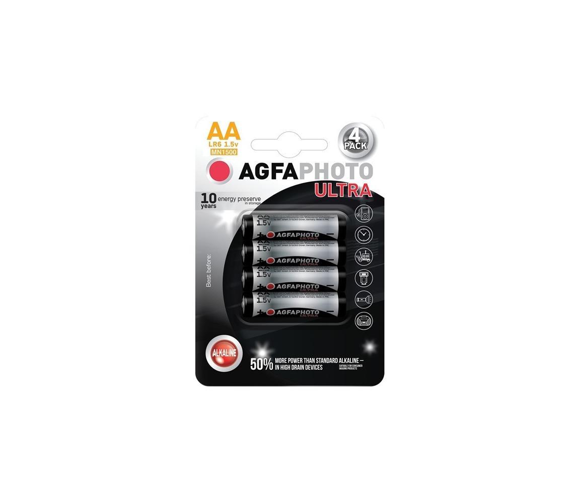 Solight 4 ks Ultra alkalická baterie AA 1,5V