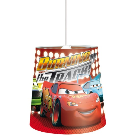 82463 Dětský lustr CARS 1xE27/40W červená