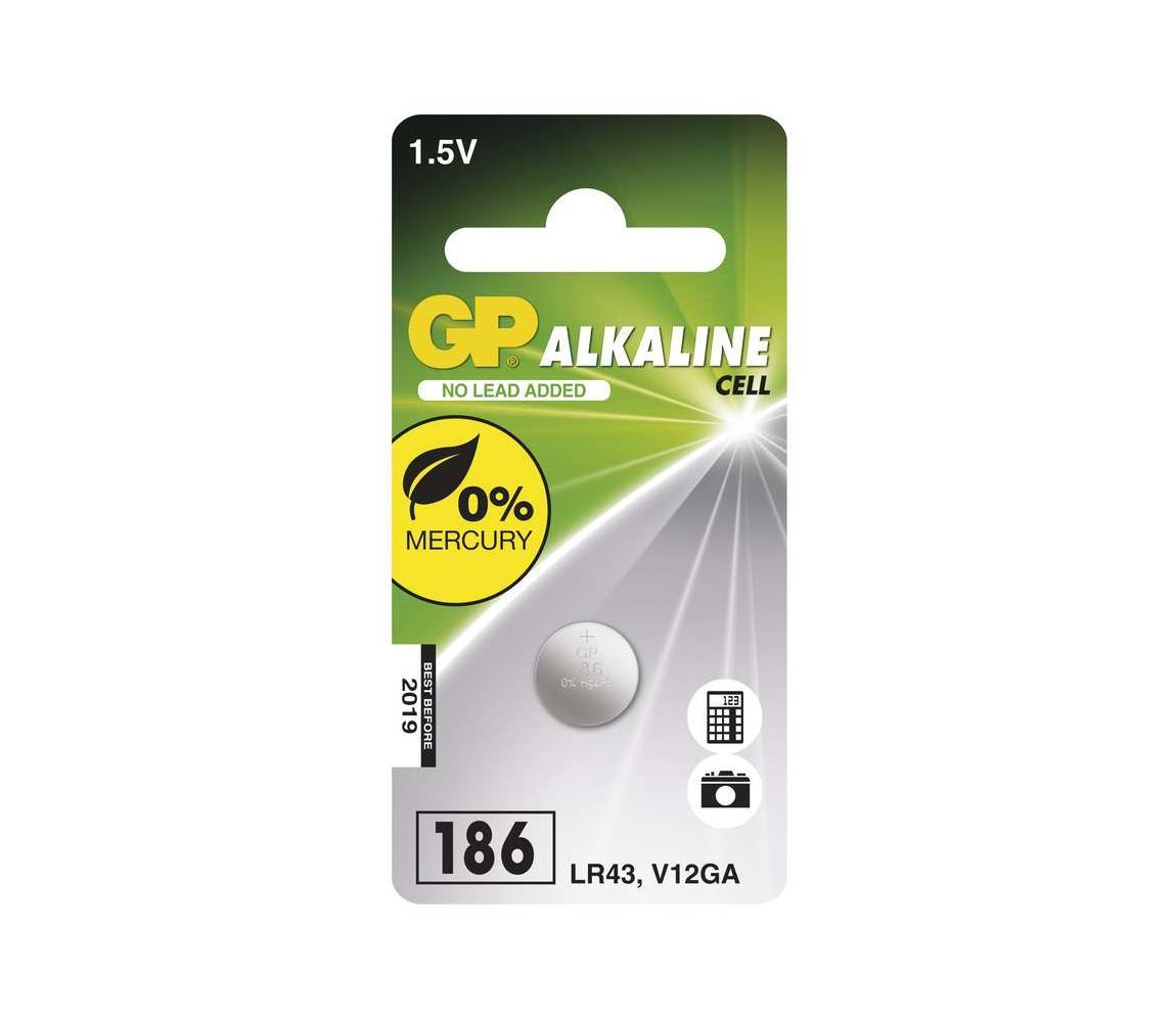 EMOS Alkalická baterie knoflíková LR43 GP ALKALINE 1,5V/70 mAh