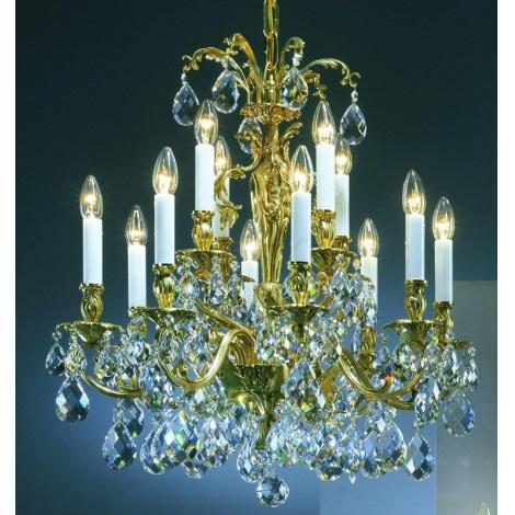 Artcrystal PAR537100012 - Křišťálový lustr 12xE14/40W/230V