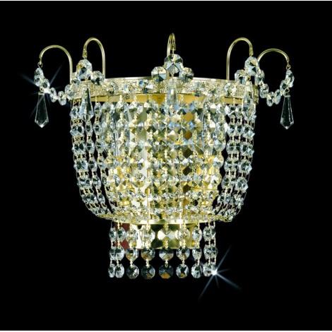Artcrystal PWB066101002 - Nástěnné svítidlo 2xE14/40W