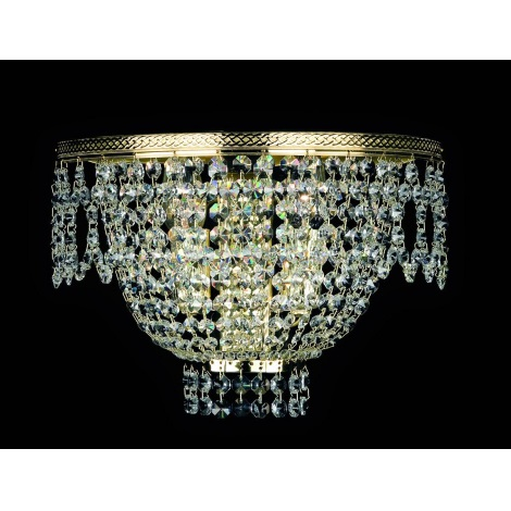 Artcrystal PWB121800002 - Nástěnné svítidlo BRILLIANT 2xE14/40W/230V