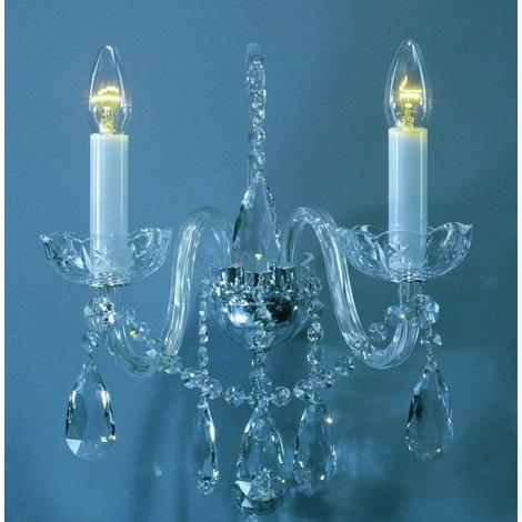 Artcrystal PWC544500002 - Nástěnné svítidlo  2xE14/40W/230V