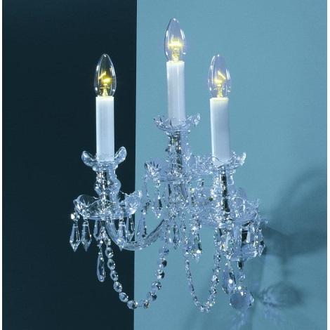 Artcrystal PWC579301003 - Nástěnné svítidlo  3xE14/40W/230V