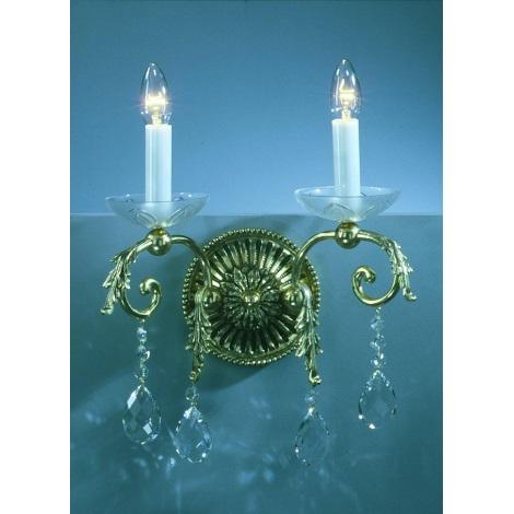 Artcrystal PWL501000002 - Nástěnné svítidlo 2xE14/40W