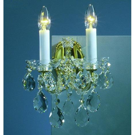Artcrystal PWM518000002 - Nástěnné svítidlo 2xE14/40W