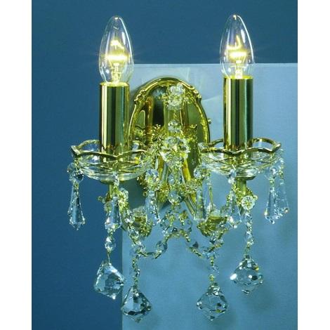 Artcrystal PWM525600002 - Nástěnné svítidlo 2xE14/40W