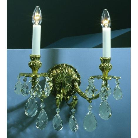 Artcrystal PWR534500002 - Nástěnné svítidlo 2xE14/40W