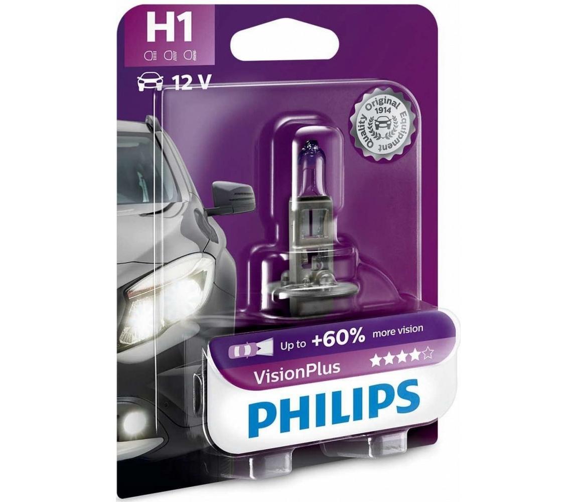 Philips Autožárovka Philips VISION PLUS 12258VPB1 H1 P14,5s/55W/12V