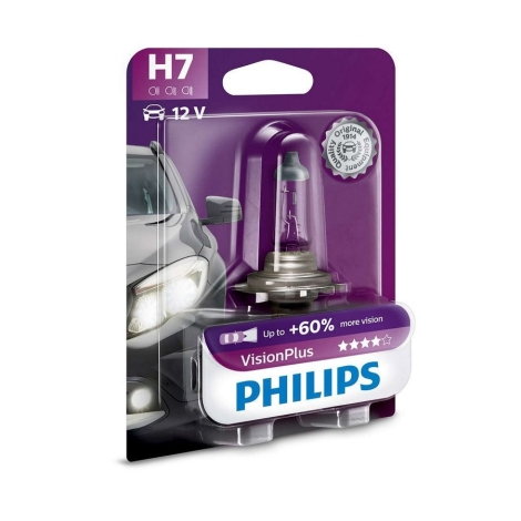 Autožárovka Philips VISIONPLUS 12972VPB1 H7 PX26d/55W/12V