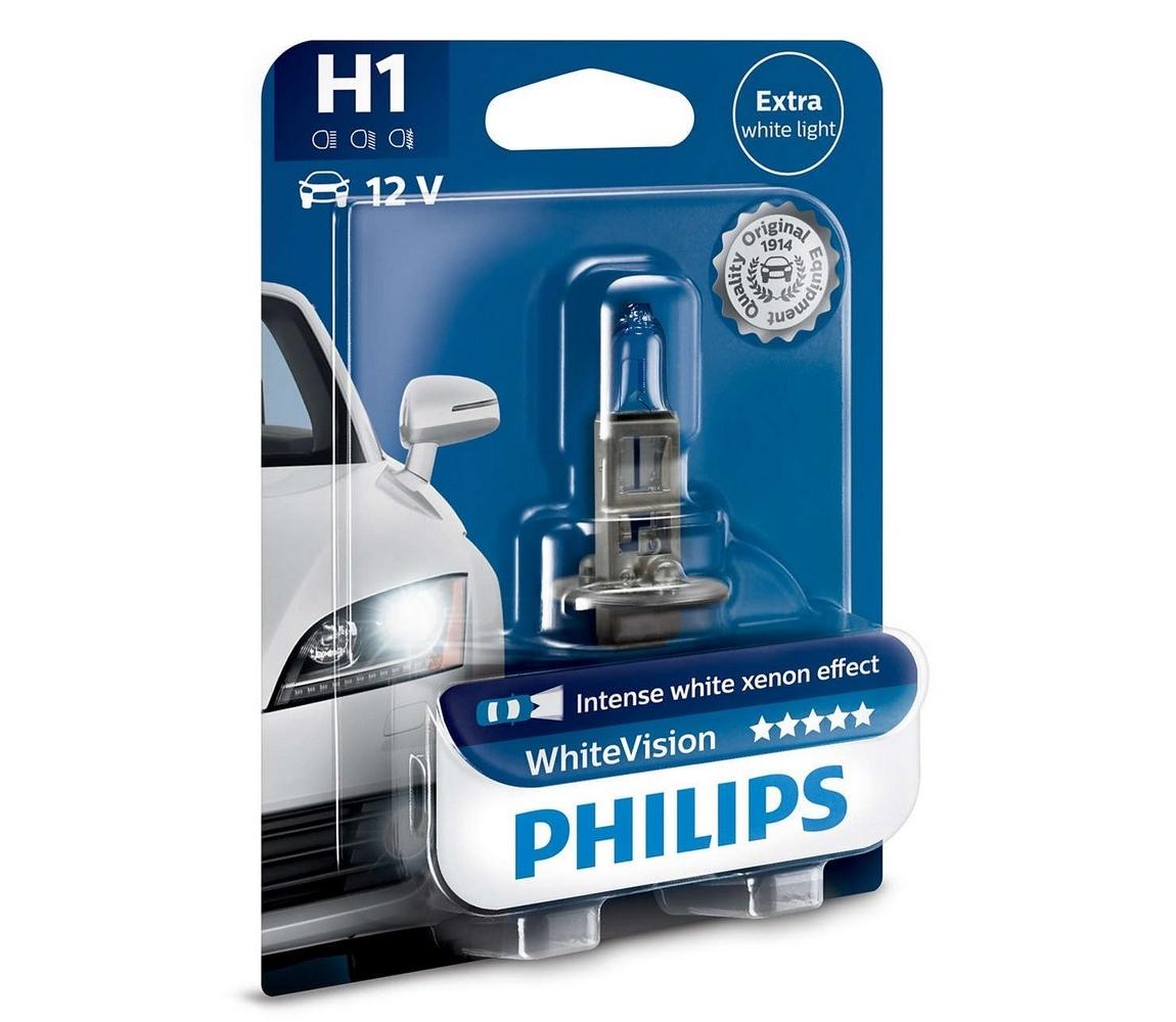 Philips Autožárovka Philips WHITE VISION 12258WHVB1 H1 P14,5s/55W/12V