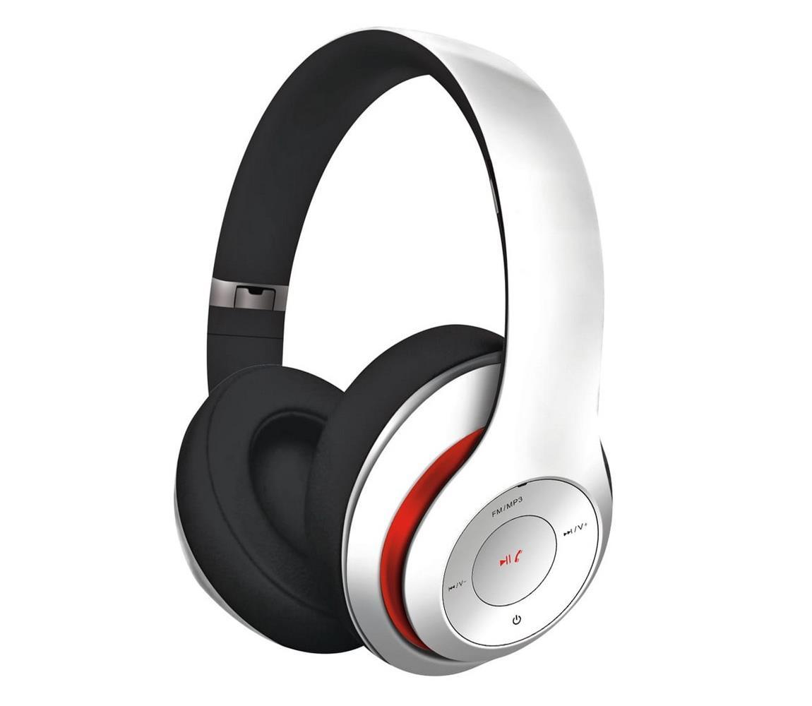 Platinet Bezdrátová sluchátka s Bluetooth bílá