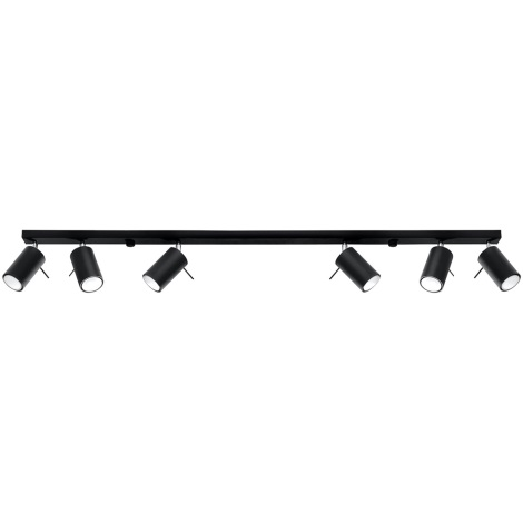 Bodové svítidlo RING 6L 6xGU10/40W/230V černá