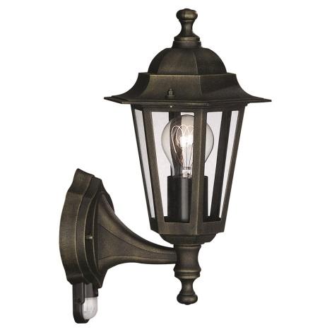 Bright Light 71522/01/42 - Venkovní nástěnné svítidlo s čidlem PEKING 1xE27/60W IP44