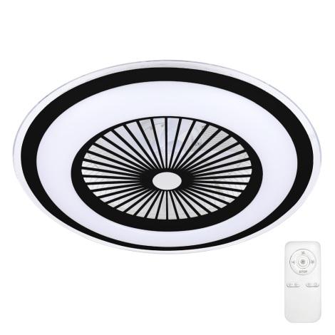 Brilagi - LED Stmívatelné stropní svítidlo s ventilátorem RONDA LED/65W/230V 3000-6500K černá