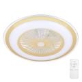 Brilagi - LED Stmívatelné stropní svítidlo s ventilátorem RONDA LED/65W/230V 3000-6500K zlatá