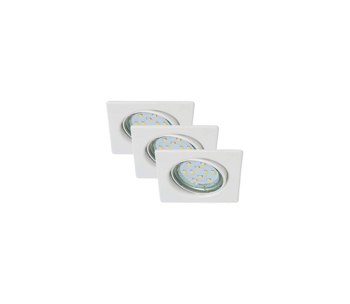 Briloner Briloner 7230-036 - SADA 3x LED Koupelnové svítidlo SQUARE 3xGU10/3W/230V BL0684