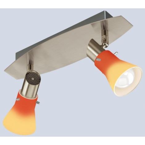 BRILONER BL2642/022B - Bodové svítidlo SWING 2xE14/40W