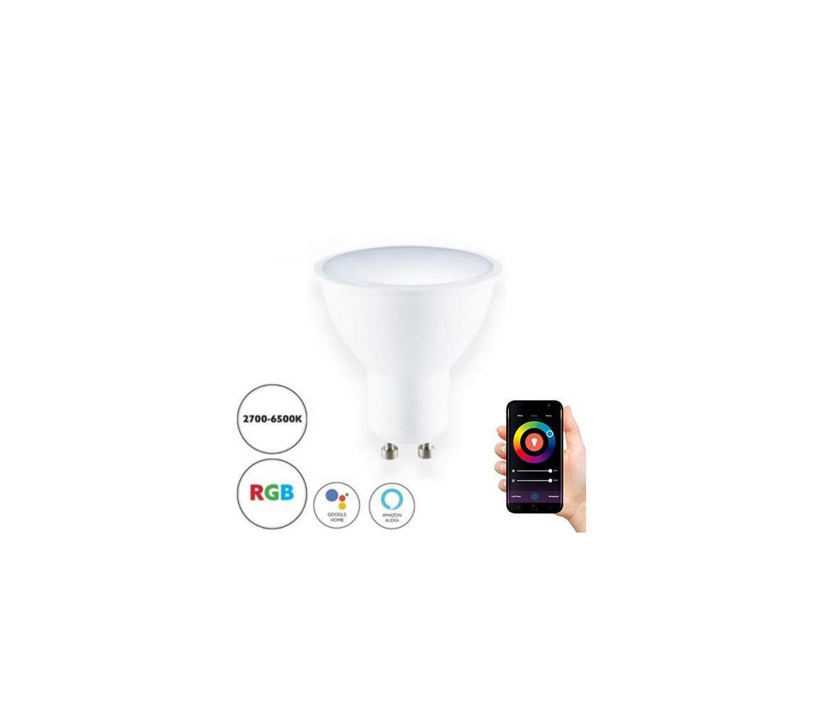 Kobi Chytrá LED RGB stmívatelná žárovka GU10/5W/230V 2700-6500K WiFi Tuya KB0137
