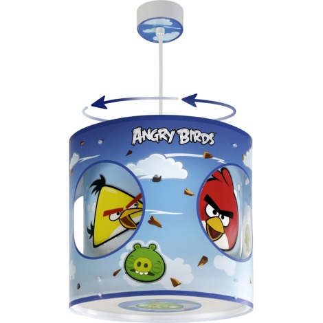 Dalber 60884 - Dětský lustr ANGRY BIRDS E27/60W