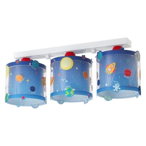 Dalber D-41343 - Dětské stropní svítidlo PLANETS 3xE27/60W/230V