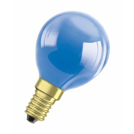 Dekorační žárovka E14/11W DECOR P BLUE