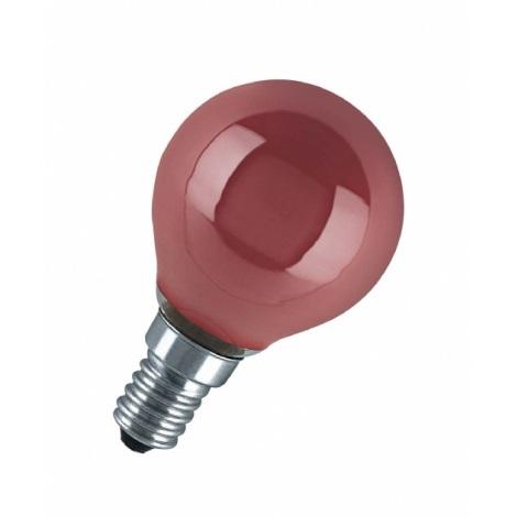 Dekorační žárovka E14/11W DECOR P RED