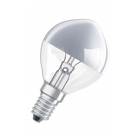 Dekorační žárovka E14/25W SPC MIRROR P SILVER