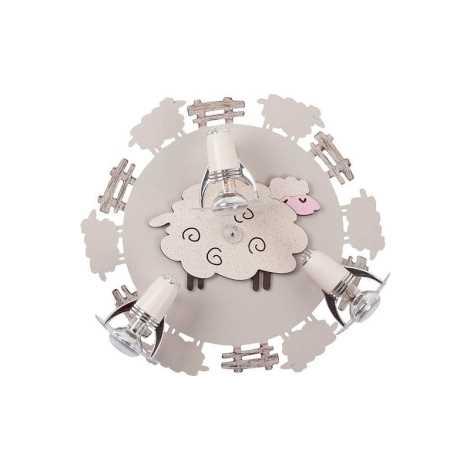 Dětské bodové svítidlo SHEEP III PL - 3xE14/40W/230V