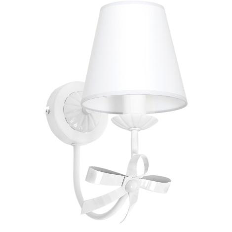 Dětské nástěnné svítidlo KOKARDKA 1xE14/60W bílá