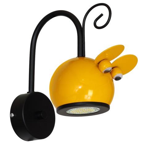 Dětské nástěnné svítidlo MOUSE 1xGU10/40W/230V žlutá
