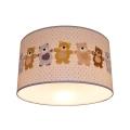 Dětské stropní svítidlo BEARS 2xE27/60W/230V bílá
