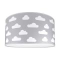 Dětské stropní svítidlo CLOUDS GREY 2xE27/60W/230V šedá
