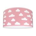 Dětské stropní svítidlo CLOUDS PINK 2xE27/60W/230V růžová