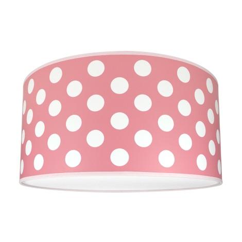Dětské stropní svítidlo DOTS PINK 2xE27/60W/230V růžová