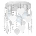 Dětské stropní svítidlo ELZA hearts 3xE27/60W/230V bílá