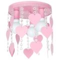 Dětské stropní svítidlo ELZA hearts 3xE27/60W/230V růžová
