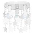 Dětské stropní svítidlo ELZA stars 3xE27/60W/230V bílá